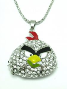 Angry Bird Crystal Necklace